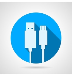 Flat icon for USB cable vector image
