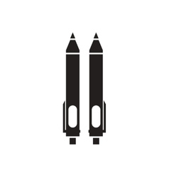 Flat icon in black and white pens vector