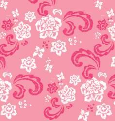 floral stitched design vector image vector image