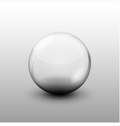 Glass transparent ball on a clean vector