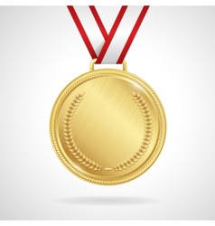 gold medal with ribbon vector image