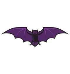 Halloween cartoon bat isolated on white vector image