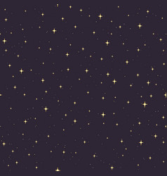 Hand drawn seamless pattern with gold stars vector