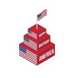 Happy Birthday America vector image