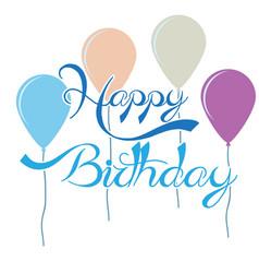 happy birthday image vector image
