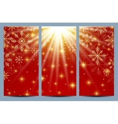 happy new year flyers red background vector image