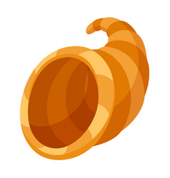 Happy thanksgiving horn plenty vector
