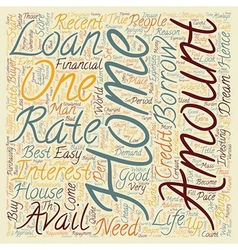 Home Loan text background wordcloud concept vector