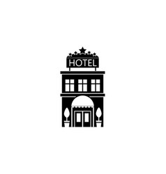 Hotel solid icon travel tourism vector