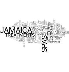 jamaica spas text background word cloud concept vector image