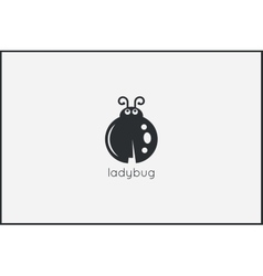Ladybug animal logo design background vector image