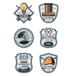 Lectrical service retro icon of electricity supply vector