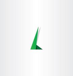 letter l green logo element symbol design vector image