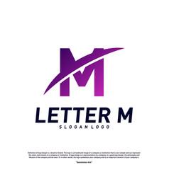 letter m logo design concepts initial m planet vector image
