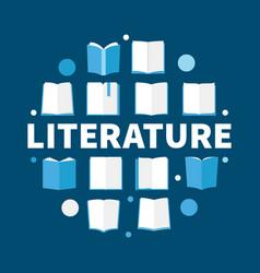 Literature round flat - modern vector