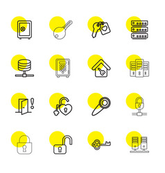 lock icons vector image