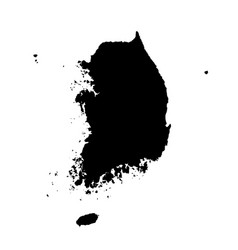 Map south korea isolated vector