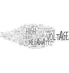 Megawatt word cloud concept vector