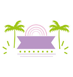 Palm tree summer season design vector