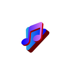 play and note music logo design vector image
