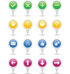 Pointers with icons vector image