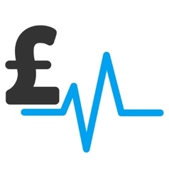 Pound Pulse Flat Icon Symbol vector