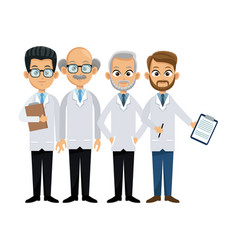 Professional medical people vector