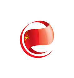 red flag of the ussr vector image