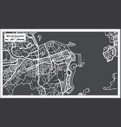 Rio de janeiro map in retro style vector