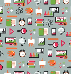 Seamless pattern with education equipment vector image