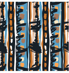 seamless tribal boho pattern vector image