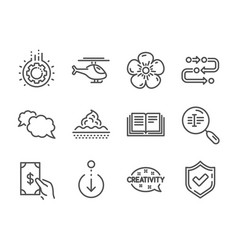 Set business icons such as confirmed vector