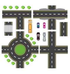 Set design for a transport node The intersections vector image