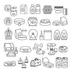 Set of hand drawn black line icon vector