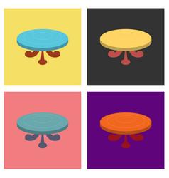 Set of poker table flat vector