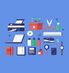 set various stationery vector image