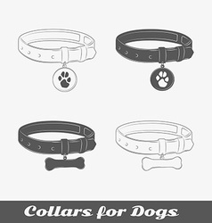 Silhouette collars for dogs vector