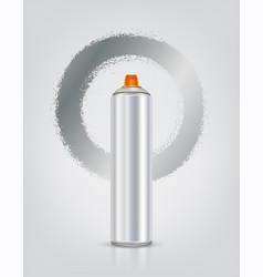 Silver graffiti spray can vector