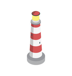 Striped lighthouse isometric 3d element vector