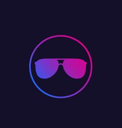 Sunglasses icon ultraviolet vector