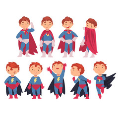 superhero kids characters in different situations vector image