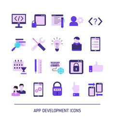 support service icons support service icons vector image