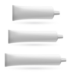 Three white tube on white background for design vector