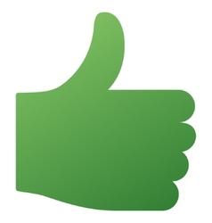Thumb Up Gradient Icon vector