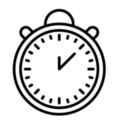 Time delivery icon outline style vector