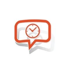 Time message sticker orange vector