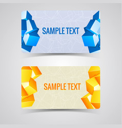 two abstract banner set vector image
