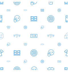 Typography icons pattern seamless white background vector
