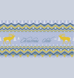winter knitted woolen seamless pattern vector image