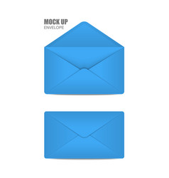 blue open envelope vector image vector image